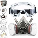 RHINO Smart Solutions Gezichtsbescherming (halfzijdig) anti-stof, herbruikbaar met bril, handschoenen, 6 deeltjesbeschermings
