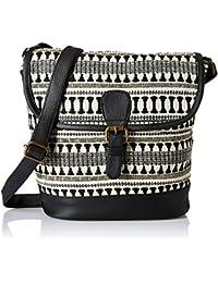 Kanvas Katha Roselina Women's Sling Bag (Black) (KKRJQ024)