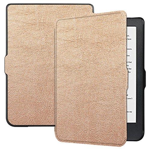 Esories Kobo Clara HD Hülle, PU Leder Schutzhülle Flip Case Tasche für Kobo Clara HD e-Book Reader 6 Zoll mit Ständerfunktion Auto Schlaf/Wach