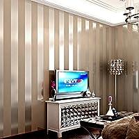 LXPAGTZ Einfache Moderne Vlies Tapete Schlafzimmer Wohnzimmer Schwarzen Und  Weißen Vertikalen Streifen Blau Östliches Mittelmeer