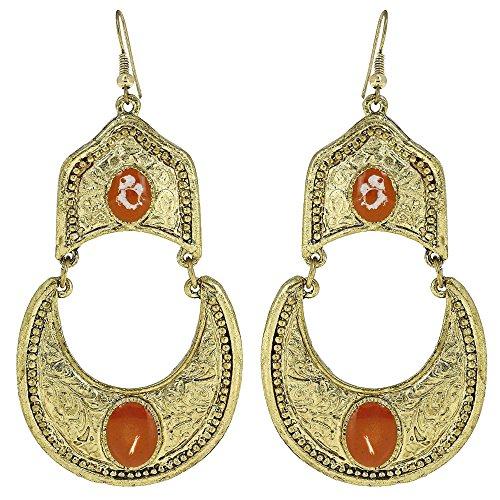 Handgemachte Goldene Ohrringe Kostüm Modeschmuck (Mann Kostüme Indische)