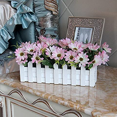 Decorate fiori fiori artificiali fiori di emulazione idilliaca campagna fresca di recinzione Siu Chun Ju-pack soggiorno, decorazioni floreali di fiori di seta, rosa 16*30cm