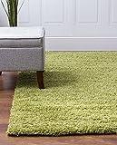 BRAVICH RugMasters Green Medium Rug 5cm Thick Shag Pile Soft Shaggy Area Rugs Modern Carpet Living Room Bedroom Mats 80x150cm (2'6 x 5'0)