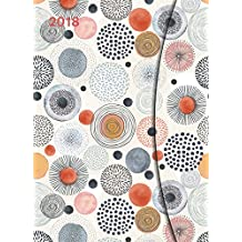 Abstract Flowers 2018 - Magneto Diary Large, Buchkalender, Taschenkalender - 16 x 22 cm