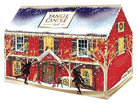 Yankee Candle Adventskalender Weihnachten 2015, Haus Advents Duftkerzen Kalender, Kerze,
