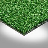 Kunstrasen Rasenteppich Fertigrasen mit Noppen 7mm grün 200 und 400 cm breit, verschiedene Längen, Variante: 5 x 2 m