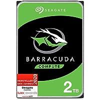Seagate Barracuda, interne Festplatte 2 TB HDD, 3,5 Zoll, 7200 U/Min, 256 MB Cache, SATA 6 GB/s, silber, FFP, Modellnr…