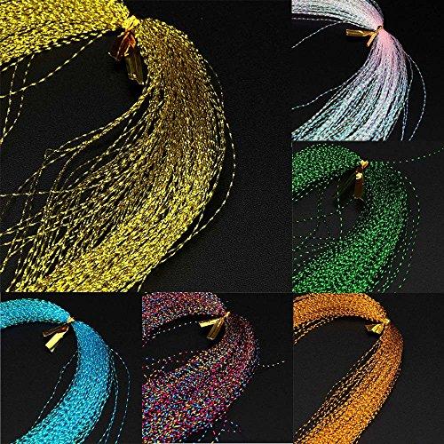 eliaSan Fishing Crystal Flash Fly Bindematerial Holographische Fischköder Binden Machen 100Pcs