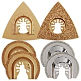 OxoxO 2 Set Triangle Carbide Grout Blade & Semi-Circular Grout Blade, Oscillating Multitool Blades fits Dewalt Rockwell Hyperlock Chicago Stainley Skil King Canada Multi Tools