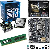 INTEL Kaby Lake Core i3 7100 3.9Ghz CPU, ASUS H110M-A/M.2 Motherboard & 4GB 2133Mhz Crucial DDR4 RAM Pre-Built Bundle