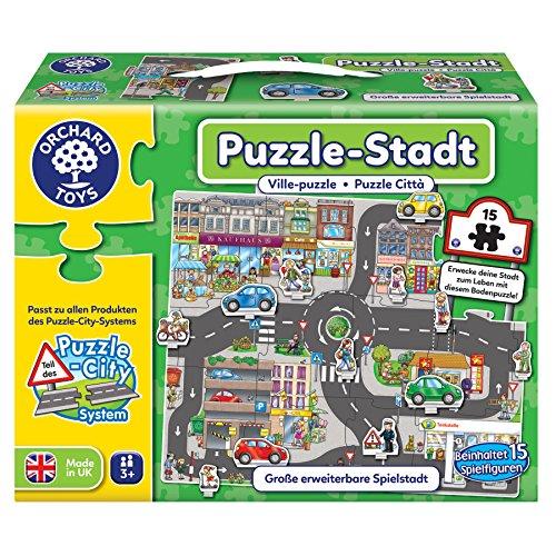 Orchard Toys 10245 - Puzzle, Puzzle-Stadt, 15 Teile, Spielfläche 66.6 x 54.2 cm Preisvergleich