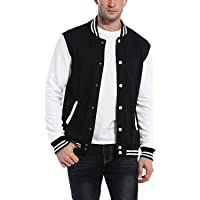 Black and White Baseball Bomber Jacket for Men Baseball Jacket for Men Jacket for Boys Hoodie for Men