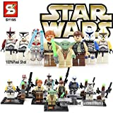 Sy195 Custom Compatible Minifiguras Star Wars Yoda, Han Solo, Troopers, Obi