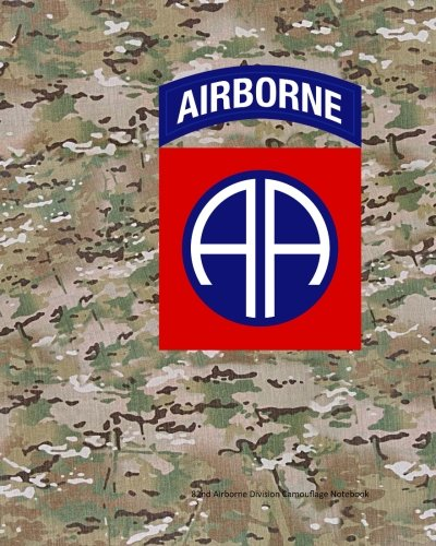 82nd Airborne Division Camouflage Notebook -