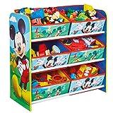 Familie24 Holz Spielzeugregal Auswahl Frozen Cars Minnie Maus Mickey Maus Winnie Pooh Kinderregal Organizer Regal (Mickey Maus)