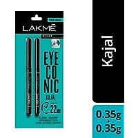 Lakmé Eyeconic Kajal, Deep Black, 0.35g