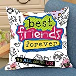 This is a bast gift Printed Cushion. By Aart Store. This is bast gift for your frinend printed Cushion. This is beautifully designed expressive printed 12X12 filled cushions set.