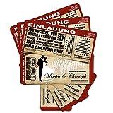 20 Einladungskarten zur Hochzeit