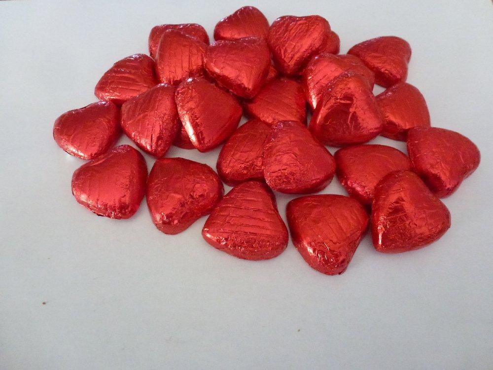 Rote Folie Schokoladen Liebe Herz Hochzeits Bevorzugungen X50 Amazon