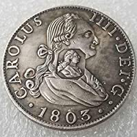 YunBest 1803 United Kingdom Old Coin -UK England Old Coin - Lucky Commemorative Coin Gift -Old Uncirculated Commemorative Coin-Discover History of US Coins BestShop