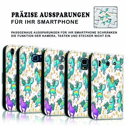Wallet Book Style Flip Handy Tasche Case Schutz Hülle Schale Motiv Etui für Apple iPhone 6 / 6S - Variante UMV3 Design12 Design 8