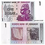 Zubehör für Sammler - 1 Dollar Stempelglanz -Banknote von der Zentralbank von Simbabwe / 2007 / UNC ausgestellt