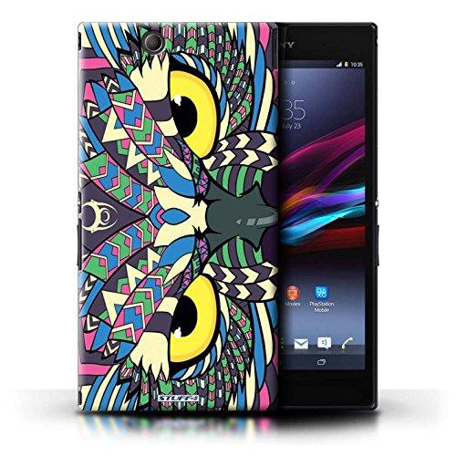 Kobalt® Imprimé Etui / Coque pour Sony Xperia Z Ultra / Loup-Rouge conception / Série Motif Animaux Aztec Hibou-Couleur