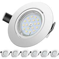 LED Spots Encastrables, Blanc Chaud 2700K,600lm Plafonnier Encastré,5W Equivalente de 60W Ampoule halogène,30°orientable…