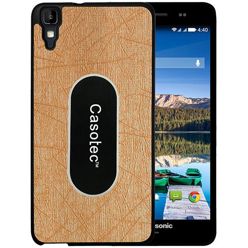 Casotec Metal Back TPU Back Case Cover for Panasonic Eluga Z - Gold  available at amazon for Rs.149