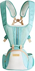 Chinatera Boy's & Front Back Carrier Hipseat Mommy and Dddy Convertible Soft Carrier All Shapes and Seasons Alone Nursing and S One Size Light Blue