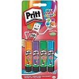 Pritt colle stick Fun Colors, colla colorata per bambini, per lavoretti e fai da te, Colla Pritt multicolore per applicazioni