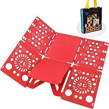 BoxLegend Planche à plier le linge - Pli linge plieur de linge enfant  adulte vetement chemise t-shirt tee shirts 57 x 70 cm rouge 5875d6e5a27