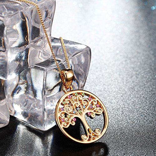 Murtoo Tree of Life Necklace Decorated with Colorful Swarovski Element Crystals Life Tree necklace For Women WqFnG0B