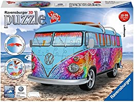 Ravensburger Italy - Camper Volkswagen Indian Summer Puzzle, 3D Veicoli, 12527