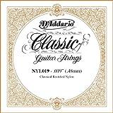 D\'Addario Corde seule en nylon pour guitare classique rectifiée D\'Addario NYL019, .019