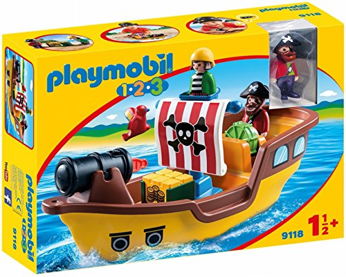Playmobil 1.2.3 Barco Pirata 9118