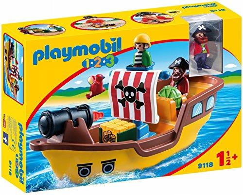 Playmobil-9118 Barco Pirata,, única (9118)