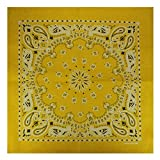 Alex Flittner Designs Bandana mit exclusivem Paisley Muster in gelb