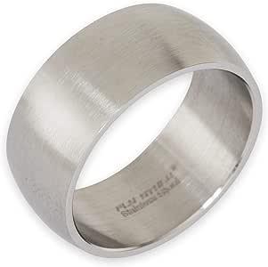 Fly Style Ring aus Edelstahl für Damen und Herren · Bandring 8-12 mm breit · Silber matt oder poliert
