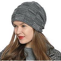 DonDon Mujer caliente gorro de invierno gorro diseño flexible Gorro de punto moderno con forro interior extrasuave
