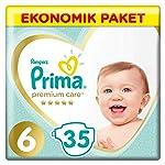 Prima Bebek Bezi Premium Care 6 Beden Ekstra Large Ekonomik Paket 35 Adet