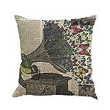 Kissenbezug 45 x 45 cm Schmetterling Malerei Throw Taille Kissenhülle Sofa Home Decor Pillow Cover LuckyGirls (E)