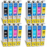 Compatible Epson Expression XP-312 Ink Cartridges 4X Black 4X Cyan 4X Magenta 4X Yellow (16-Pack)