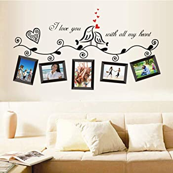 Walplus Wall Stickers Photo Frame Removable Self-Adhesive Mural Art ...