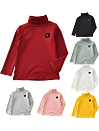 04d6d43125 QinMM bebé niña niño Cuello Alto Sudadera Tops Camisetas tee Manga Larga  Blusa Camisa Invierno otoño