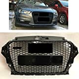 Obere Grillfront Honeycomb Gloss Black Grill für A3 S3 RS3 2013-2016
