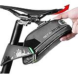 ROCKBROS Fietstas voor mountainbike, racefiets, zittas, waterdicht, schokbestendig, zwart, 1,5 l, met achterlichthouder.