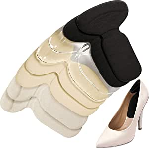 Heel Grips, Heel Cushion Inserts Silicone Shoe Pads for Women Loose Shoes and High Heels Shoe Too Big, Anti Slip Heel Inserts Liners Blister
