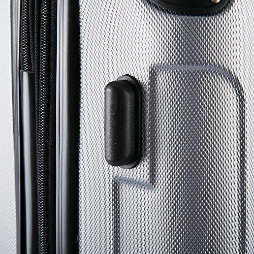 WOLTU RK4204sz-M-a Reisekoffer Koffer Trolley Hartschale mit erweiterbaren Volumen , 4 Rollen leicht Hartschale mit erweiterbaren Volumennkoffer Handgepäck , Schwarz M (56 cm & 42 Liter) - 7