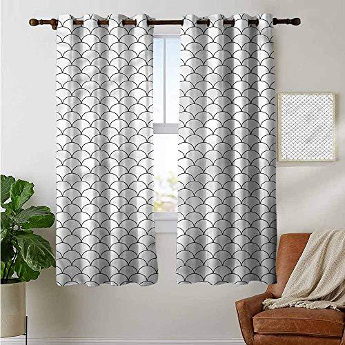 petpany Ösenvorhänge, geometrisch, orientalisch, Rautenmuster, Verdunkelungsvorhänge für Schlafzimmer Fenster, Polyester, Color14, 42'x63'(W106cmxL160cm)